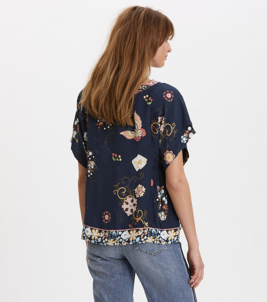 759949aa601 Odd Molly Paradise Groove s/s Blouse French Navy - Torgstua Mote AS